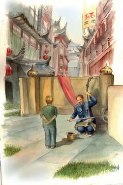 China town music boy