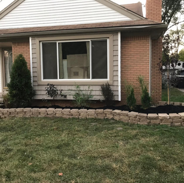 Front landscaping (After)