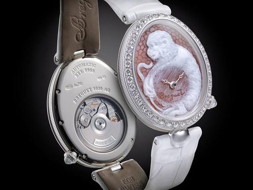 BREGUET推出貝殼浮雕猴子腕錶