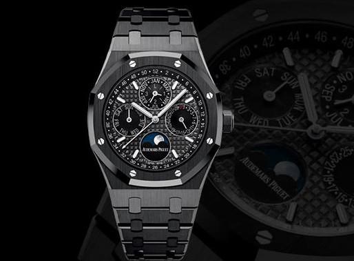 【SIHH 2017 錶展新報】 AUDEMARS PIGUET/Royal Oak Perpetual Calendar皇家橡樹萬年曆黑色陶瓷腕錶