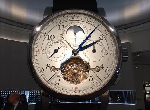 "【SIHH 2017 錶展新報】 A. LANGE & SÖHNE/ Tourbograph Perpetual""Pour le Mérite""萬年曆芝麻鍊陀飛輪追針計時腕錶"