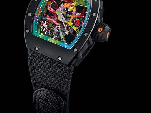 RICHARD MILLE x Cyril Kongo限量塗鴉RM 68-01陀飛輪腕錶