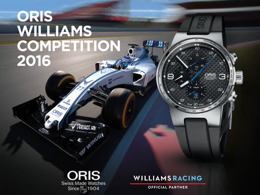 ORIS推出「Oris Williams Martini Racing Competition 2016」有獎問答遊戲