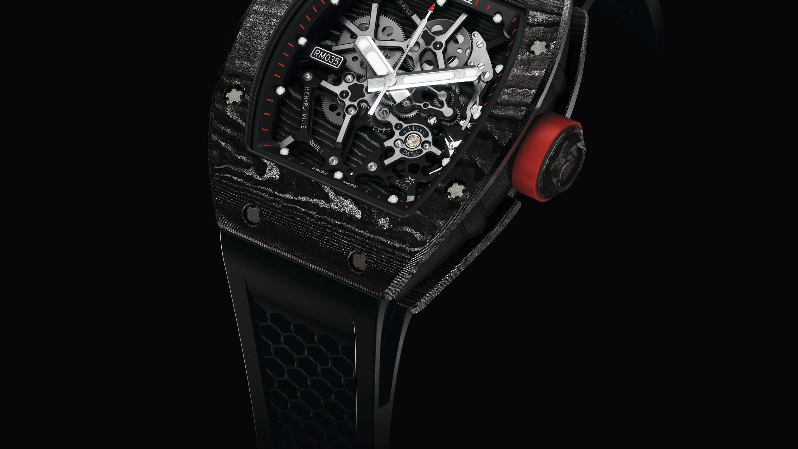 RICHARD MILLE RM 035 Ultimate Edition 48x39.7x12.25毫米TPT™碳纖維錶殼∕時分秒指示∕手動上鍊機芯∕動力儲存55小時∕限量35枚∕Chronofiable®認証