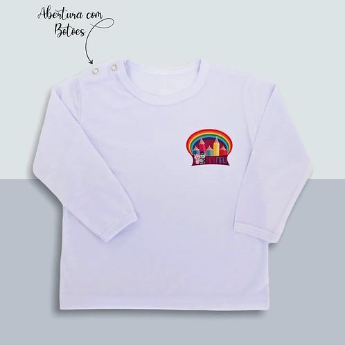 Camiseta Baby Manga Longa