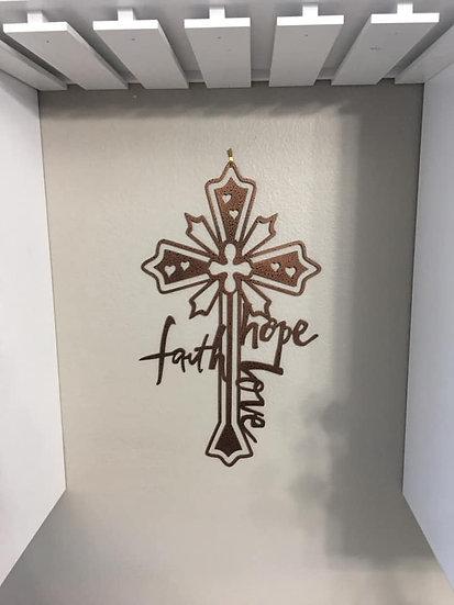 Faith, Hope & Love Cross
