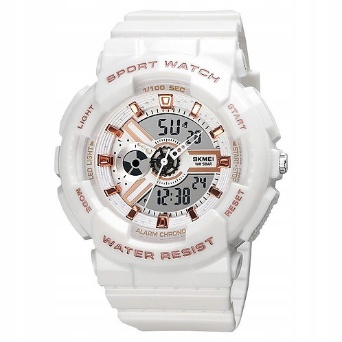 Skmei - Reloj 1689WT Análogo/Digital para unisex