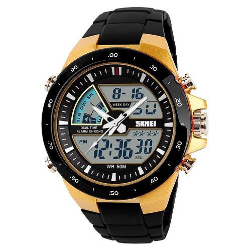 Skmei - Reloj 1016GD Análogo-Digital para Hombre
