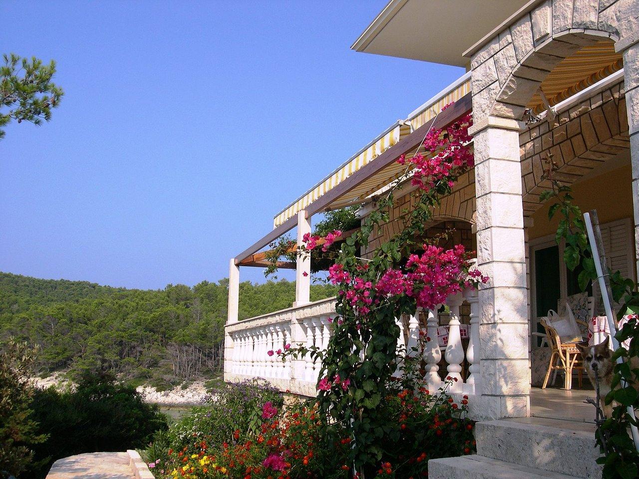 Flower garden under the front terrace