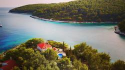 Aerial view of Villa Katy