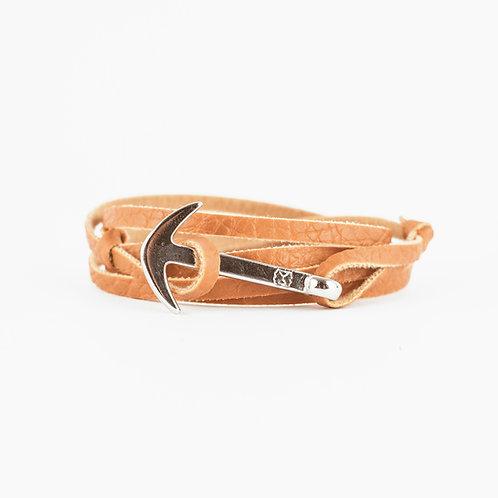 Fisher Bracelet - Camel - Hebilla Niquel