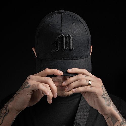 Baseball cap M logo/All black
