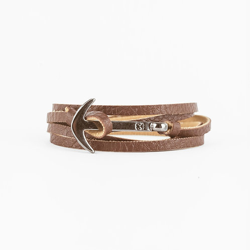 Fisher Bracelet - Chocolate - Hebilla Plata quemada
