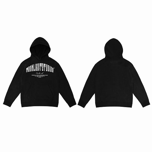 Moonlight Studios Hoodie / all black.