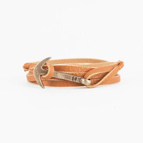 Fisher Bracelet - Camel - Hebilla Bronce Italiano