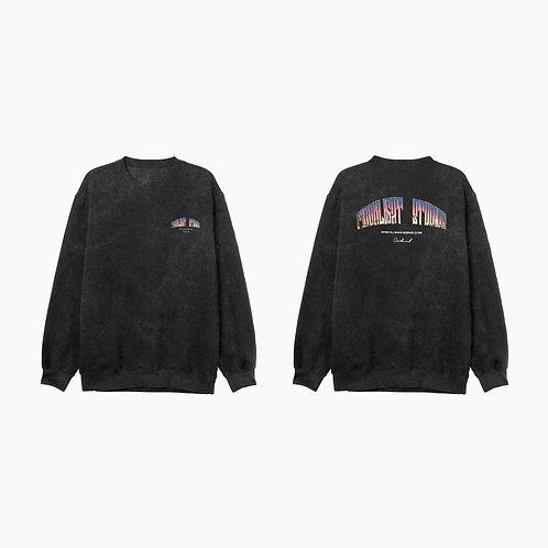Acid wash crewneck sweatshirt Miam