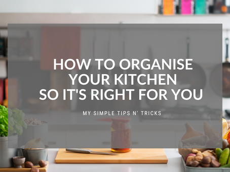 Everything but the kitchen sink... How to organise your kitchen