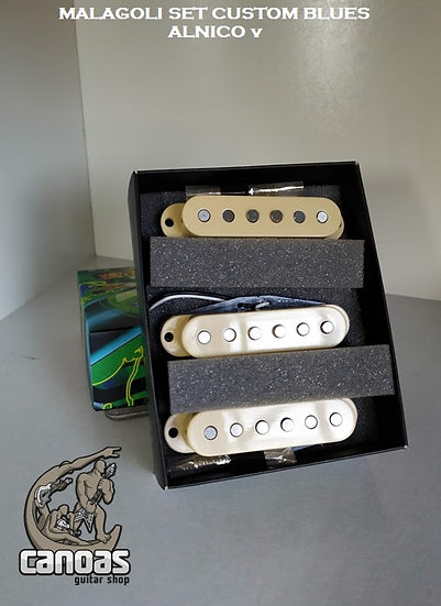 Set Malagoli Custom Blues Creme Alnico V NOVO