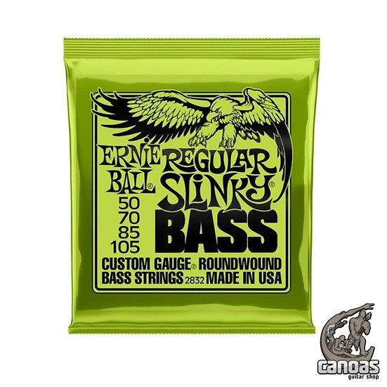 Encordoamento Ernie Ball .050-105 4 Cordas Regular Slinky Bass Niquel p/ Baixo