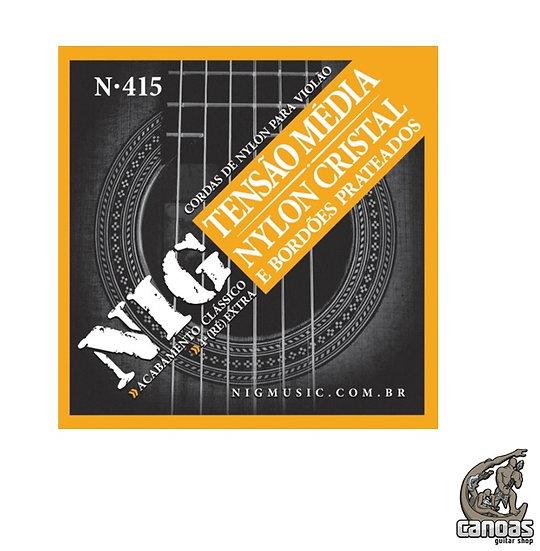 Encordoamento NIG Nylon Cristal Tensão média violão N.415