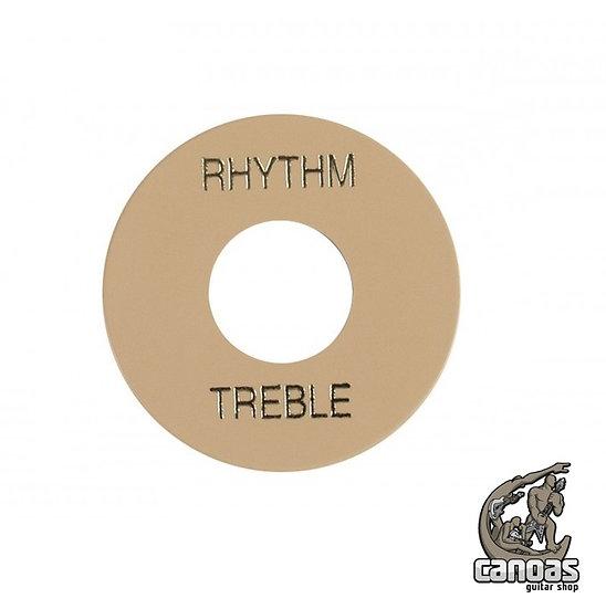 Placa Gibson Treble/Rhythm PRWA 030 Creme com print Dourado