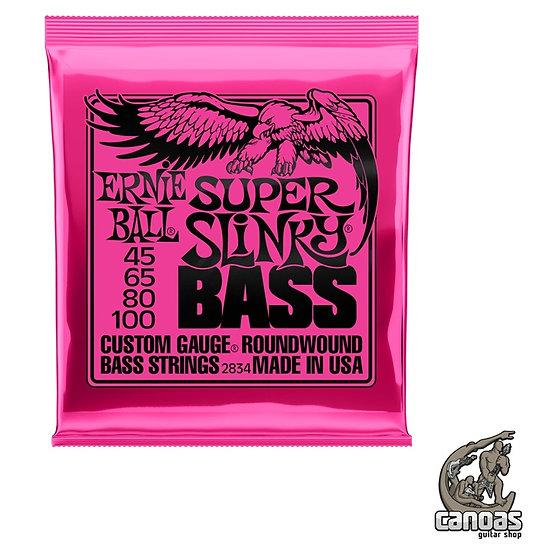Encordoamento Ernie Ball .045-100 p/ Baixo 4 Cordas Super Slinky Bass Niquel
