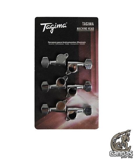 Tarraxas Blindadas para Guitarra Tagima TMH 807 Cromada