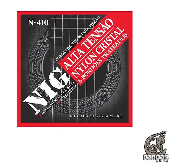 Encordoamento NIG Nylon Cristal Tensão Alta Violão N.410