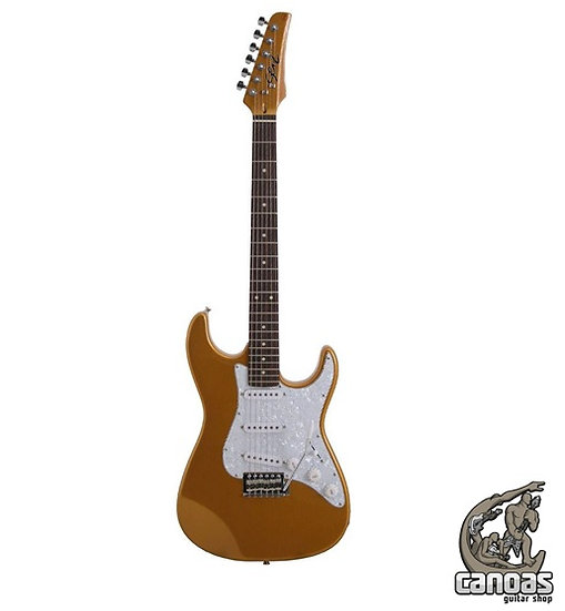 Guitarra Seizi Visioin Escala RW Gold White Face