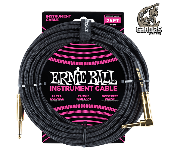 Cabo Ernie Ball Braided 7,62m P10 reto/angulado NOVO