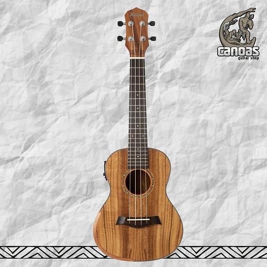 Ukulele Kalani Maori Concert Koa 420 CK EQ Elétrico