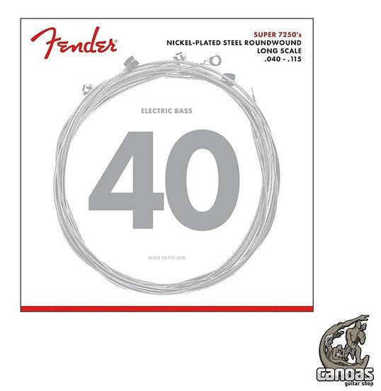 Encordoamento Baixo 5 Cordas Fender Aço .040-.115 Super 7250's Niquel-Plated