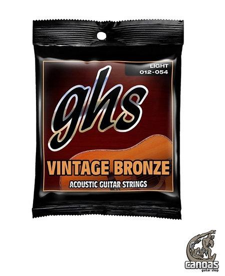 Encordoamento GHS Strings Violão Aço Vintage Bronze Light .012/.054 VN-L