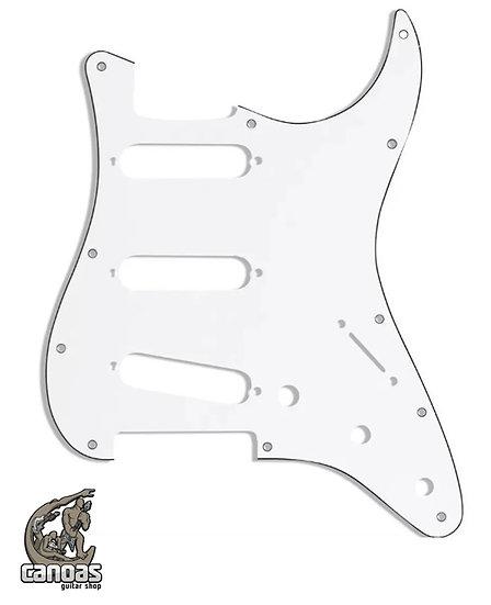 Escudo Fender Stratocaster SSS 3 camadas Branco