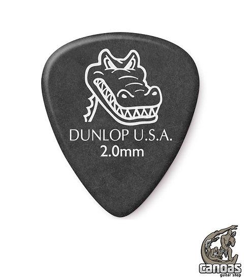 Par de palhetas Dunlop Gator Grip 2,0mm