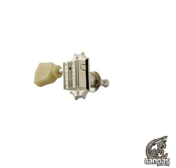 Jogo de tarraxas Gibson Niquelada para Guitarra 3+3 com Botões Perolados PMMH010