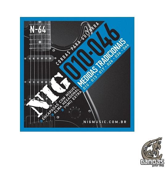Encordoamento NIG .010-.046 N.64 (1 corda mi extra)