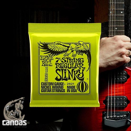Encordoamento Ernie Ball 7-Strings Regular Slinky Niquel 010-056