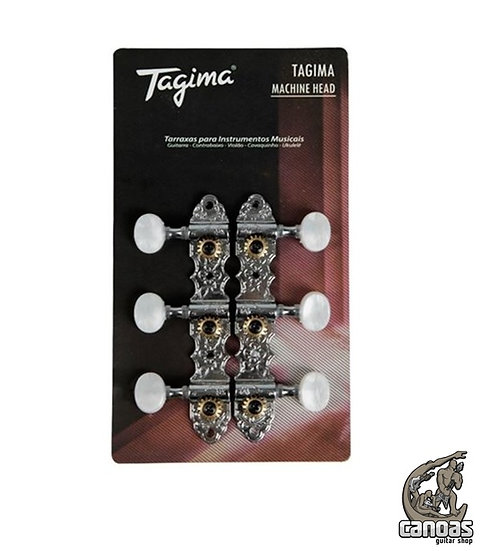 Tarraxas para Violão Tagima TMH 831 Cromada