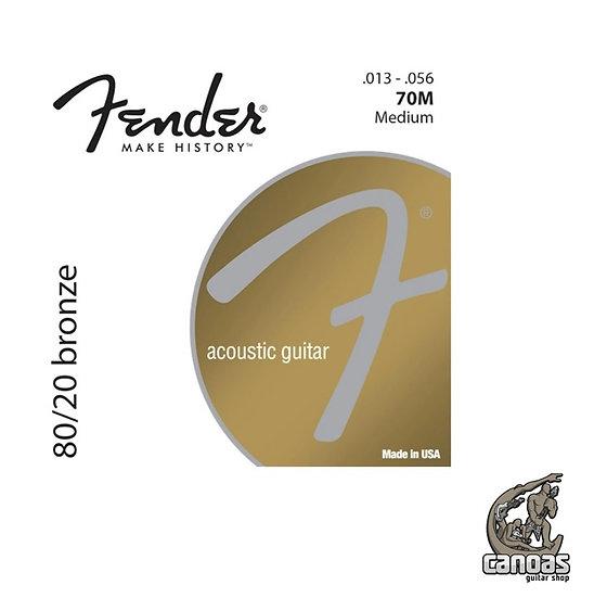 Encordoamento Fender Violão Aço 80/20 Bronze .013-.056
