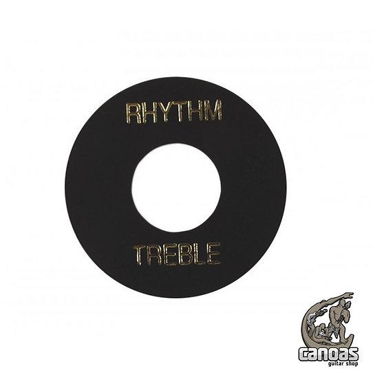 Placa Gibson Treble/Rhythm PRWA 010 Preta com print Dourado