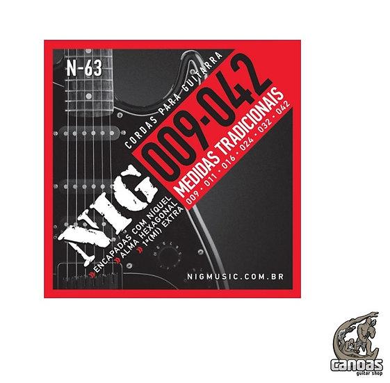 Encordoamento NIG .009-.042 N.63 (1 corda mi extra)