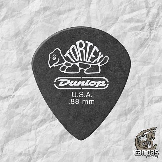 Par de palhetas Dunlop Tortex Jazz III 0,88mm Preta