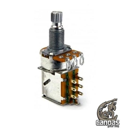 Potenciômetro Gotoh Push-Pull Log P16W 18K 500KA