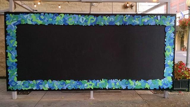 Public Chalkboard Wall