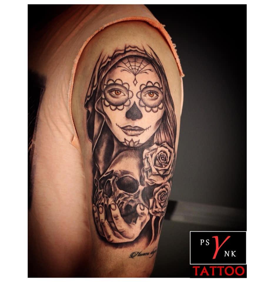 Tattoo Santa Muerte sur bras