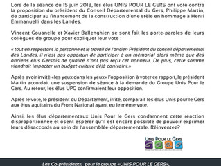 Conseil Départemental du Gers : Le Président Réinvente, et s'emporte !