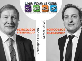 Christophe Terrain, UDI, et Michel Gabas, LR, officialisent leurs investitures