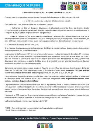 Carburant / Macron : La France rurale dit Stop !