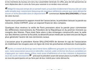 Retour sur l'Assemblée Générale du 25 Novembre 2017 à Bourrouillan